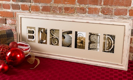 $40 for $100 Worth of Custom Framed Letter Art from Frame The Alphabet