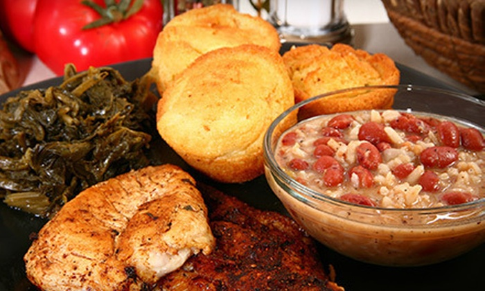 Detroit's Finest Soul Food - Pershing: Soul Food for Dine-In or Catering from Detroit's Finest Soul Food (Up to 57% Off). Three Options Available.