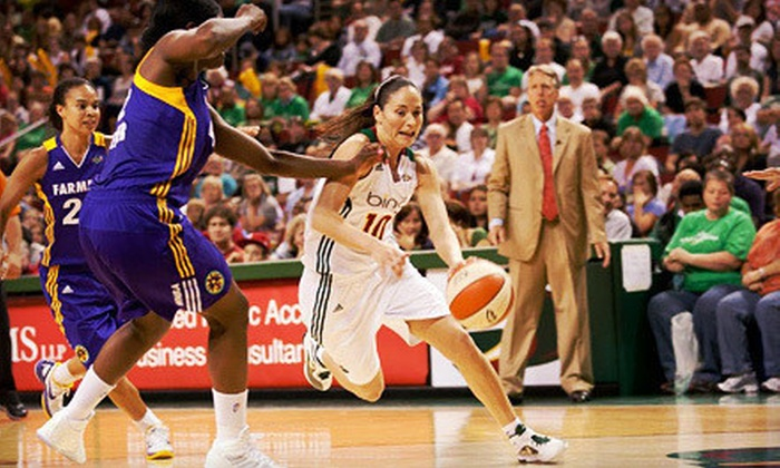Seattle Storm  - Lower Queen Anne: Seattle Storm Game on August 21 at KeyArena (Up to 76% Off). Two Options Available.