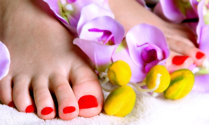 Von's Nails - Burnsville: Gel Polish, Pedicure with Mineral Tangerine Sea-Salt Exfoliation, or Both at Von's Nails (Half Off)