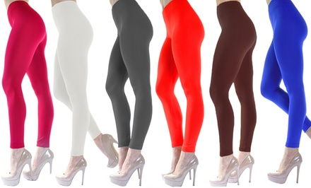 6-Pack of Women's Fleece Winter Leggings