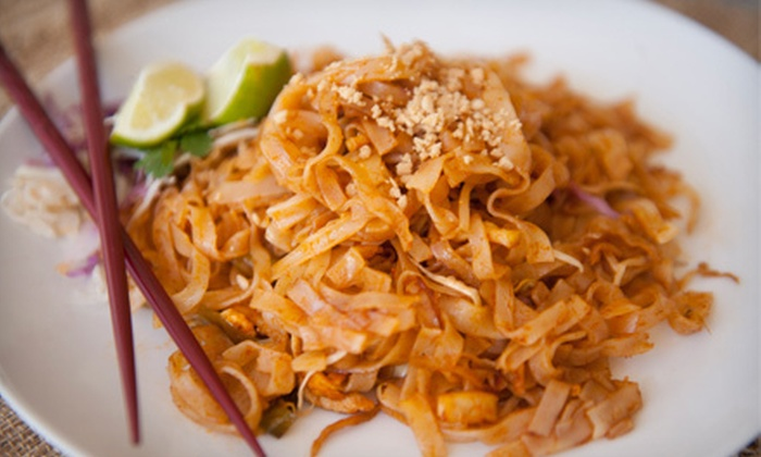 Trai Mai Thai - Austin: Two-Course Meal with Nonalcoholic Drinks for Two or $5 for $15 Worth of Thai Cuisine at Trai Mai Thai