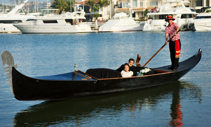 Gondola Company of Newport  - West Newport Beach: $55 for a Gondola Cruise for Up to Four People from Gondola Company of Newport ($115 Value)