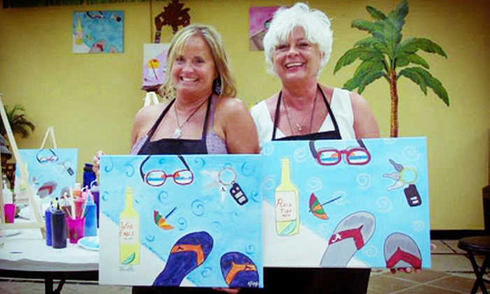 Island Paint Party - Gulf Shores: BYOB Painting Class for One or Two at Island Paint Party (Up to 59% Off)