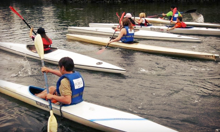False Creek Racing Canoe Club - Vancouver: One Week of Canoeing and Kayaking Summer Camp for One or Two Kids at False Creek Racing Canoe Club (Up to 60% Off)