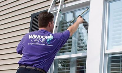 Window Cleaning <strong>Services</strong> or Gutter Cleaning and Inspection from Window Genie (Up to 62% Off)