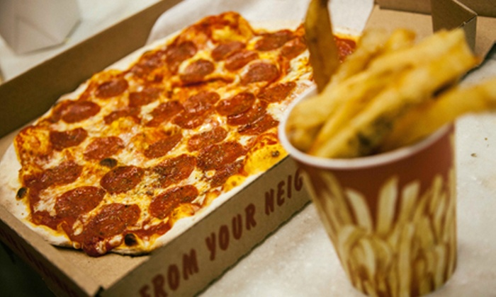 Brothers' Pies n' Fries - Old Pasadena: New York–Style Pizza and Fries at Brothers' Pies n' Fries (Up to 45% Off). Two Options Available.