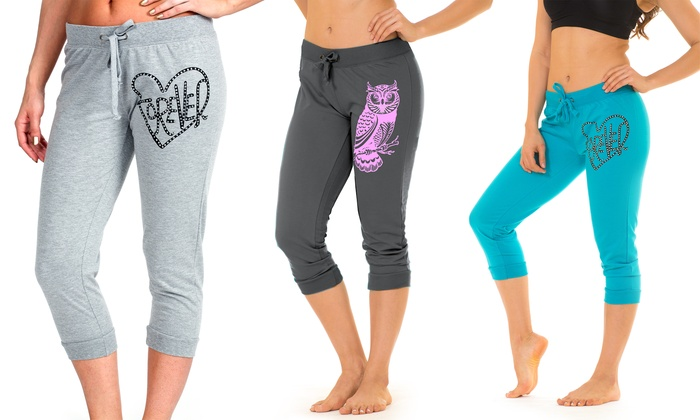 Women's Capri Sweatpants 2-Pack | Groupon Goods