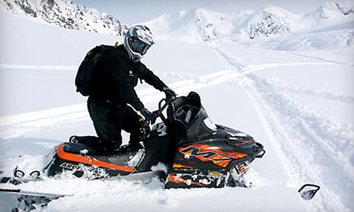 Alaska Snow Safaris - Trapper Creek: Guided Snowmobile Day Trip for One or Two with Lunch from Alaska Snow Safaris (Up to 58% Off)