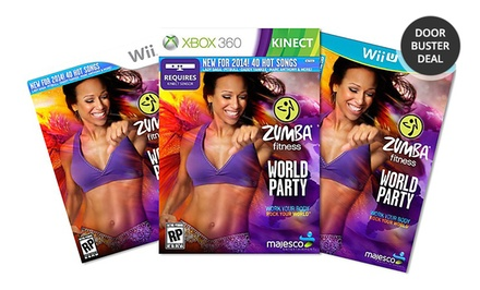 Zumba Fitness World Party for Xbox 360 Kinect, Wii U, or Wii. Free Returns.