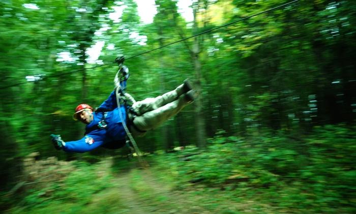 Big Bear Ziplines - HYDE APRK: Zipline Tour for Two or Four at Big Bear Ziplines (Up to 53% Off)