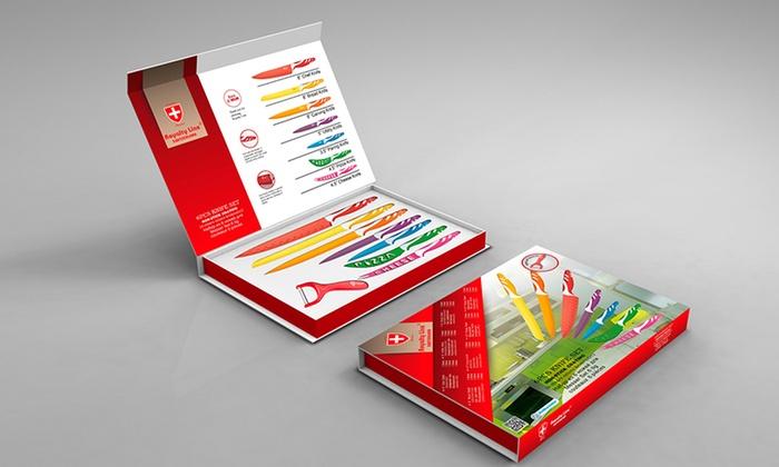 Seven-Piece Coloured Knife Set