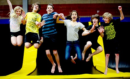 Trampoline Outing for Two or Four or a 10-Visit Punch Card at Get Air Sportsplex (Up to 53% Off)