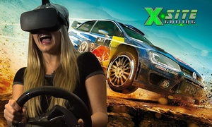 X Site Gaming: Unlimited Gaming Package including Virtual Reality for 1 ($15), 2 ($29) or 4 ($58) at X Site Gaming (Up to $120 Value)