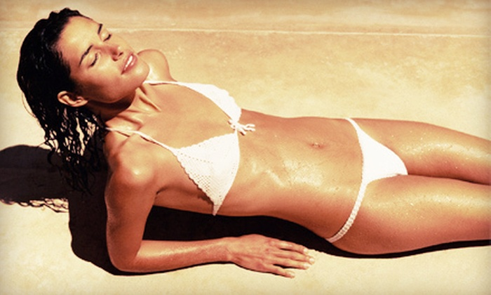 Sunless Revolution - San Diego: One, Three, or Five Airbrush Spray Tans or VersaSpa/Mystic HD Tans at Sunless Revolution (Up to 66% Off)