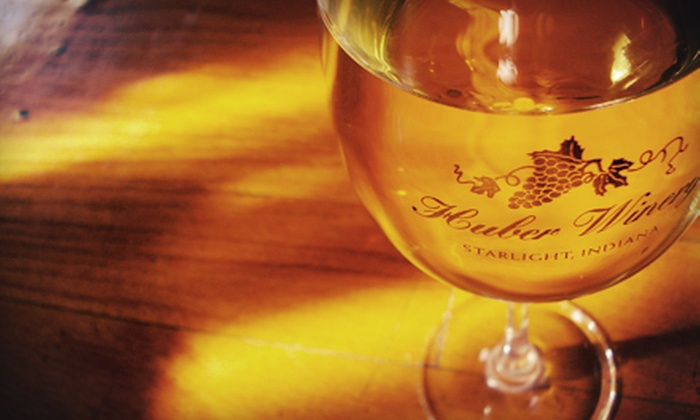 Huber's Orchard & Winery - Borden: $29 for a Winery Tour Package for Four at Huber's Orchard & Winery (Up to $99.99 Value)