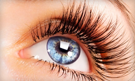 Full Set of Eyelash Extensions with Option for One Fill-In at Premier Day Spa (Up to 71% Off)