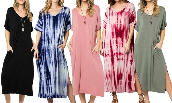 c771973b4af Acting Pro Women s Tie Dye or Solid Maxi Dress. Plus Sizes Available.