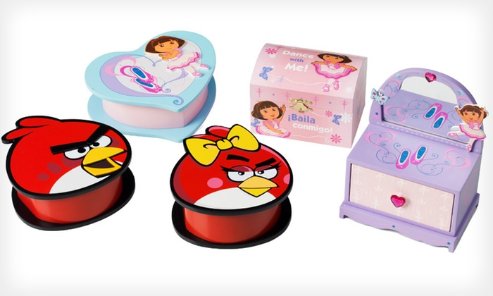 Angry Birds or Dora Keepsake Boxes: $14 for a Jacmel Angry Birds or Dora the Explorer Keepsake Box ($39.99 List Price). Free Returns.