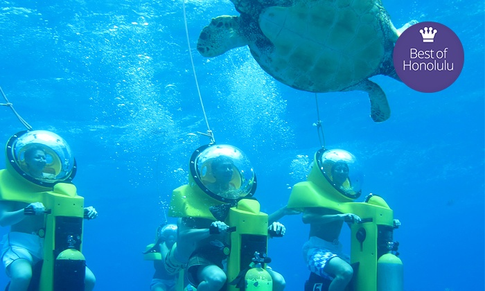 Island Water Sports Hawaii - Hawaii Kai: $95 for a Submarine-Scooter and Turtle-Watching Adventure from Island Water Sports Hawaii ($198 Value)