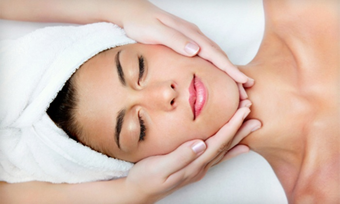 M Spa and Skincare - Shelton: Mother's Day Spa Package for One or Two with Facial, Massages, and Wine at M Spa and Skincare (Up to 55% Off)