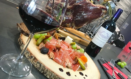 Cheese and Meat Platters with Wine at The Boarding (Up to 40% Off). Three Options Available.