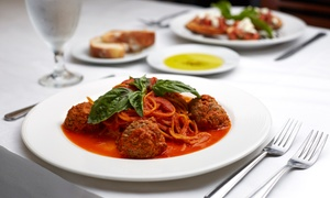 Geppettos: Italian Meal for Two with Wine or Pizza Meal for Two with Wine at Geppetto's (Up to 63% Off)