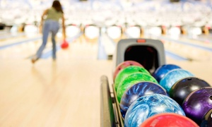 Drkula's 32 Bowl: 90 Minutes of Bowling for 6 or 12 with Shoe Rentals and Pitchers of Soda at Drkula's 32 Bowl (Up to 62% Off)
