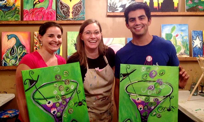 The Royal Canvas Painting Parlor - Alamo Heights: Two-Hour Kids' or Adults' Painting Party or Three-Hour BYOB Class at The Royal Canvas Painting Parlor (Up to 51% Off)