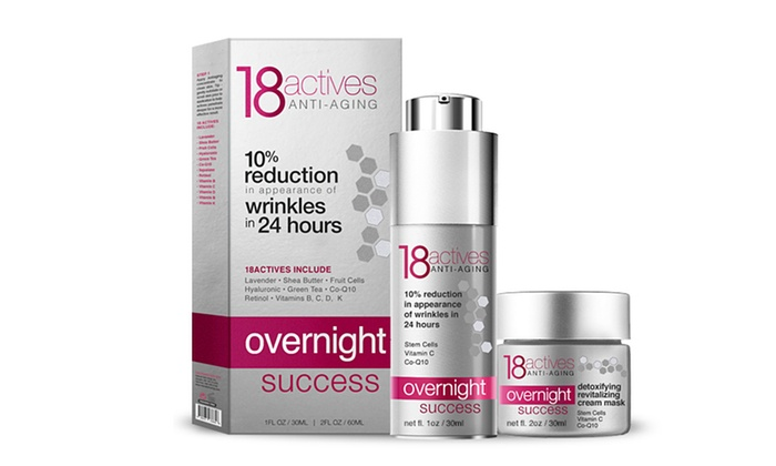 18 Actives Overnight Success Anti-Aging Duo: 18 Actives Overnight Success Anti-Aging Serum and and Gel Mask