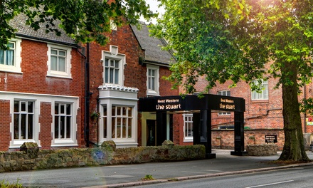 Derby: Double Room for Two with Breakfast, Wine and Option for Dinner at 4* Best Western The Stuart Hotel