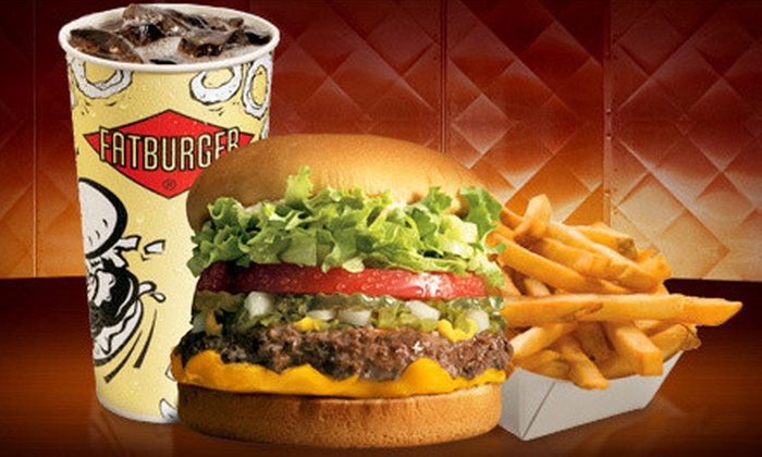 Fatburger - Multiple Locations: Half Off Burgers, Fries and Drinks at Fatburger - 2 Options