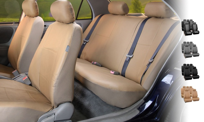 PU Leather Full Set Of Car Seat Covers Premium
