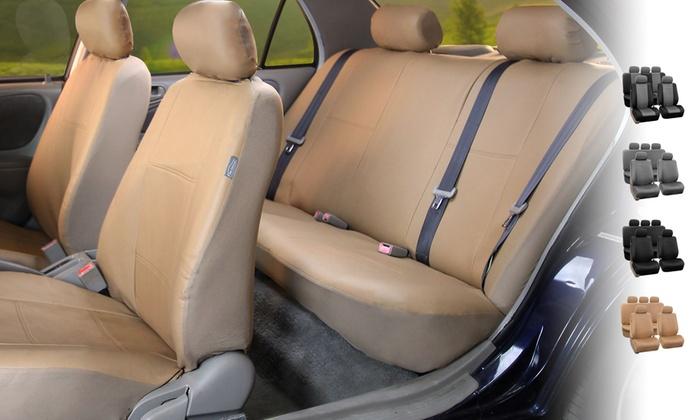 PU Leather Car Seat Covers Set 9 Piece