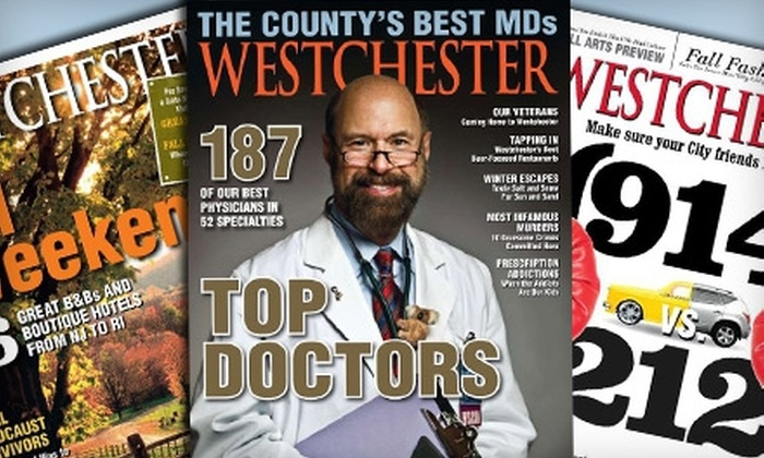"Westchester Magazine: One- or Two-Year Subscription to ""Westchester Magazine"" (Up to 53% Off)"