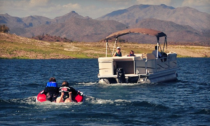 Scorpion Bay Marina - Peoria: Four-Hour Rental of 22-Foot Pontoon or 21-Foot Sport Boat from Scorpion Bay Marina (Half Off)