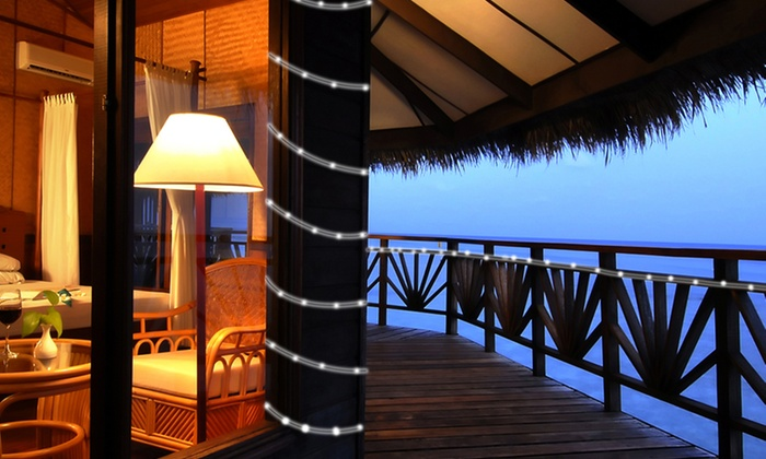 16-Foot Solar LED Rope Lights: 16-Foot Solar LED Rope Lights in White or Red/Green/Blue Changing Colors. Free Returns.