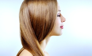 EZ Hair Salon: Haircut and Blow-Dry, or Japanese Thermal Hair-Straightening Treatment (Up to 50% Off)