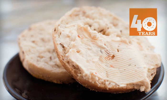 Barry Bagels - Multiple Locations: $8 for One Dozen Bagels and 1 Pound of Cream Cheese at Barry Bagels ($17.48 Value)
