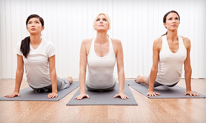 MF Yoga - Alpharetta: 10 or 20 Classes with Massage or Personal Training, or Three Months of Yoga at MF Yoga in Alpharetta (Up to 85% Off)