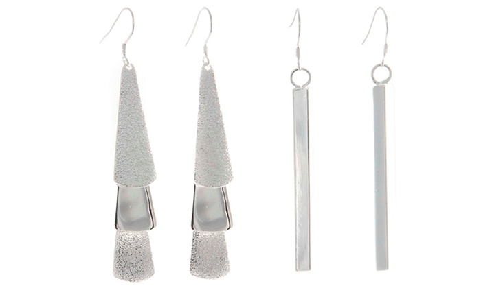 Cate & Chloe Silver-Plated Earrings: Cate & Chloe Silver-Plated Earrings. Multiple Styles Available. Free Returns.