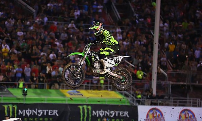 Monster Energy AMA Supercross - Georgia Dome: Monster Energy AMA Supercross at Georgia Dome on Saturday, February 21 or 28 (Up to 53% Off). Three Seating Options.
