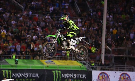 Monster Energy AMA Supercross at Georgia Dome on Saturday, February 21 or 28 (Up to 53% Off). Three Seating Options.
