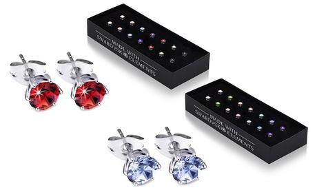 Set de 7 o 14 pares de pendientes adornados con cristales Swarovski® OMG Jewel