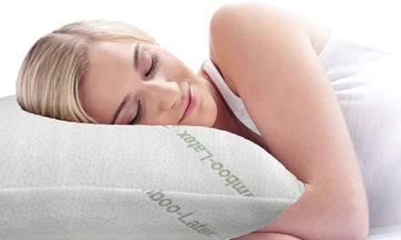 Bamboo Cover Latex Filling Pillow: TwoPack $35 or FourPack $59. Don't Pay up to $229