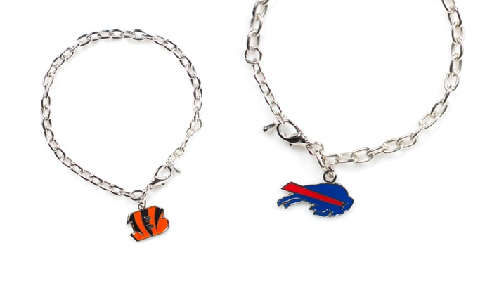NFL Logo Bracelet: NFL Logo Bracelet. Multiple Designs Available. Free Returns.