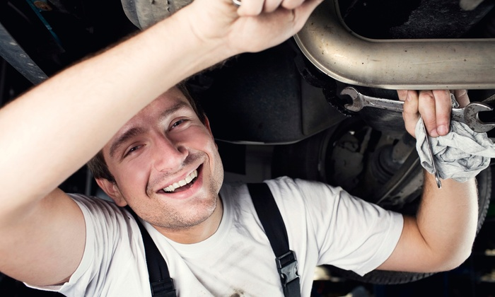 Allpro Auto Service - Old Irving Park: Emissions Test, Complete Inspection, or Front or Rear Brake Package at Allpro Auto Service (Up to 56% Off)