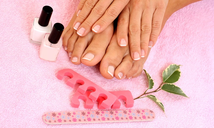 Nails Star - Plano: $33 for One Peppermint Mani-Pedi at Nails Star ($65 Value)