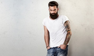 Seven Sins Salon: One Men's Haircut with Optional Beard Trim at Seven Sins Salon (Up to 50% Off)