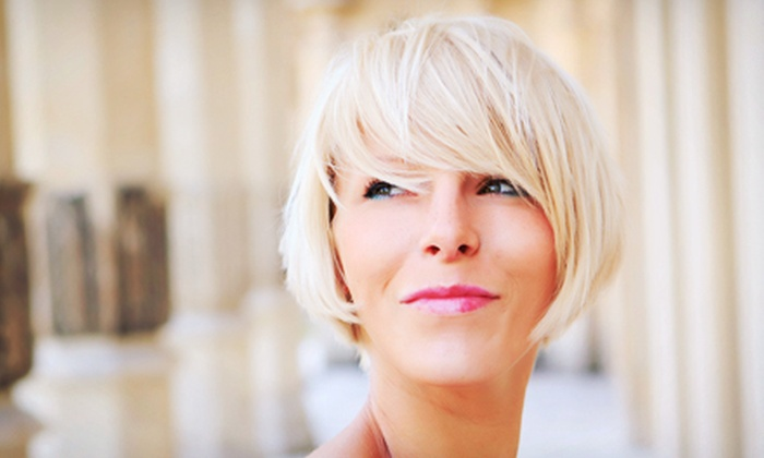 53 Karat - Gatineau: Haircut and Style with Option for Full Colour at 53 Karat (Up to 51% Off)